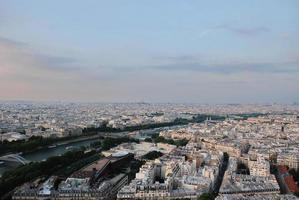 Blick auf die Innenstadt von Paris foto
