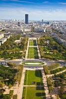 Feld des Mars. Draufsicht. Paris. Frankreich foto