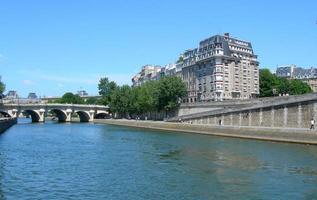 die flusswade in paris, frankreich foto