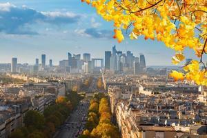 Skyline von Paris, Frankreich foto