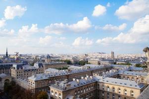 Paris Skyline Blick von Notre Dame, Frankreich foto