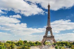 der eiffelturm in paris foto