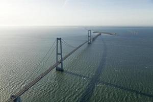Hängebrücke in Dänemark foto