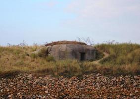 Außenposten des Zweiten Weltkriegs an der Westküste von Dänemark foto