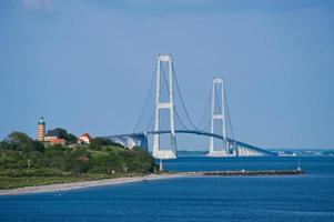 große Gürtelbrücke in Dänemark foto