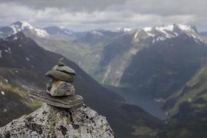 Gipfel von Dalsnibba foto