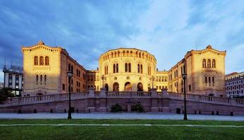 Parlament von Norwegen - Oslo foto