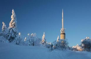 Tryvann Tower außerhalb von Oslo