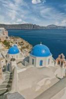 Santorini Oia Kirche Caldera Blick foto