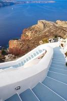 Schritte zum Strand, Griechenland foto