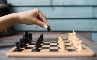 Schachspieler foto