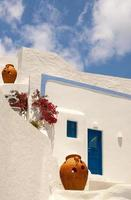traditionelle Architektur des Dorfes Oia auf der Insel Santorini, gre