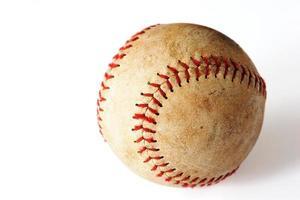 Softball auf weißem Hintergrund foto