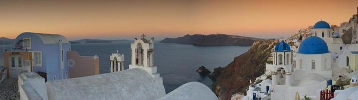 oia santorini sonnenaufgang foto