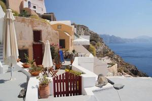 Santorini - traditionelle Architektur foto