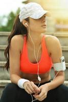 schöne Fitnessfrau