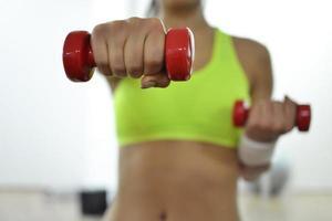 schöne Fitnessfrau foto