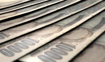 aufgereihte Nahaufnahme Banknoten
