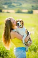 Liebe zum Hund foto