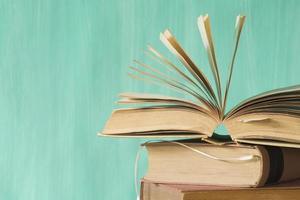 Bücher aus der Nähe foto