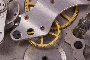 Uhrwerk aus der Nähe foto