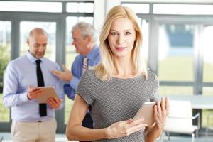 attraktives Geschäftsfrauenporträt foto