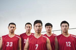Basketballmannschaft, Porträt foto