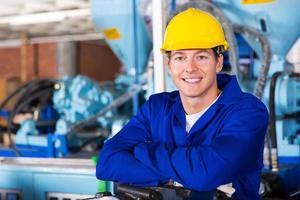 männliches Technikerporträt foto