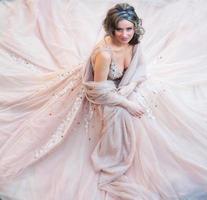 schönes Brautporträt foto