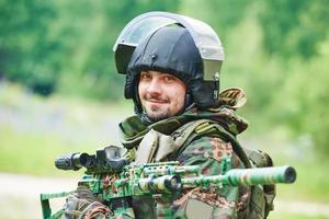 Porträt eines Militärsoldaten foto