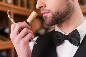 den besten Wein genießen. foto