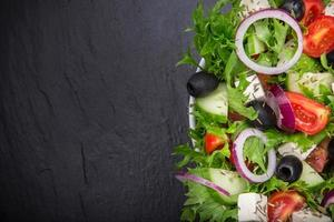 frischer leckerer Salat foto