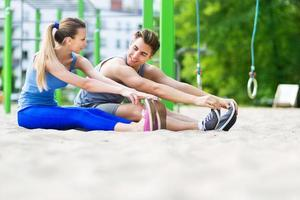 Fitnessstudio im Freien foto