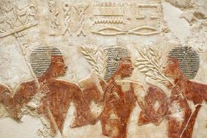 ägyptische Schnitzerei foto