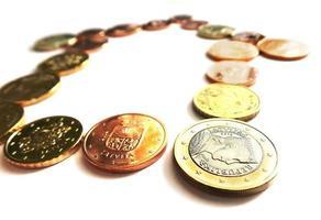 Euro Geld nach Hause - Eurocent und Münzen