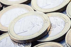 Euro-Münzen. Euro Geld. Euro Währung. foto