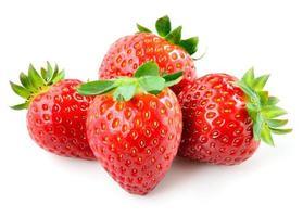 Erdbeere. Beeren lokalisiert auf weißem Hintergrund. foto