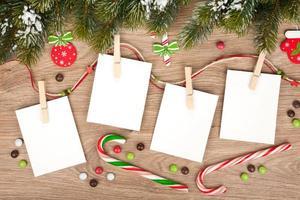 leere Weihnachtsbilderrahmen