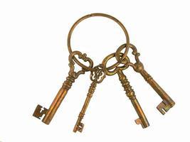 Skelettschlüssel an einem Ring foto