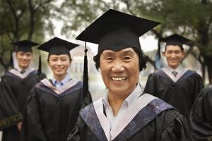 Professor und Absolventen foto