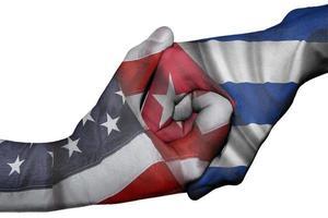 Handschlag zwischen USA und Kuba foto