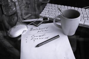 Geschäftsplan foto