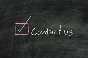 Kontaktieren Sie uns und Button foto