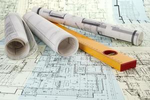 Ebenen- und Projektzeichnungen foto