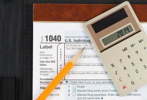 Posten für Einkommenssteuern foto