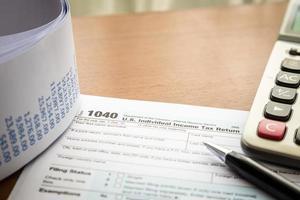 individuelle Einkommensteuererklärung foto