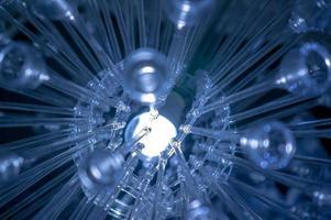 Einige LED-Lampen Blaulicht Wissenschaft Technologie Hintergrund