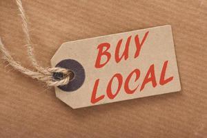 kaufen lokale Preisschild foto
