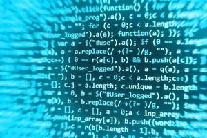 Programmiercode für Softwareentwickler auf dem Computer foto