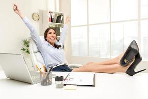 erfolgreiche Geschäftsfrau foto